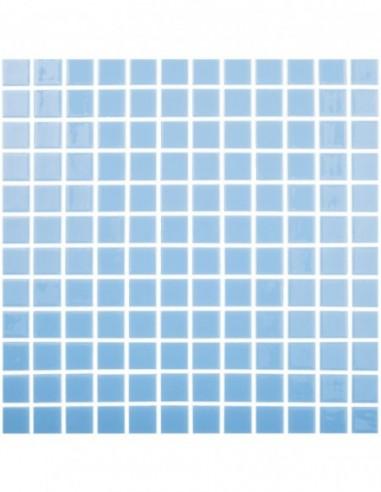 Piscinas - Gresite Liso Azul Celeste Claro - mosaico de vidrio liso  - VidrePur