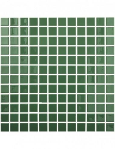 Piscinas - Gresite Liso Verde Oscuro - mosaico de vidrio liso  - VidrePur