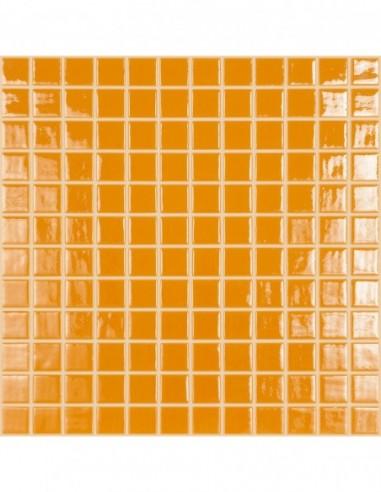 Piscinas - Gresite Liso Naranja Cítrico - mosaico de vidrio liso  - VidrePur