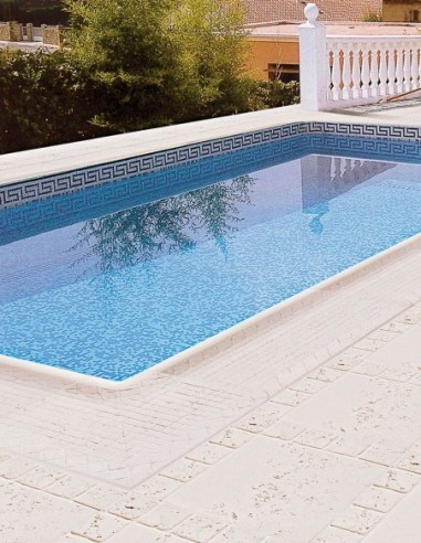 Piscinas - Remate piscina Campanillas con baldosa Trena - Verniprens